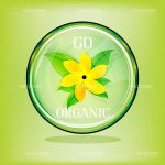 'Go Organic' Logo with a Flower Icon in the Centre