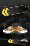 Modern Trainers Shoes in Abstract Urban Background