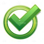 Glossy Green Tick Mark Icon