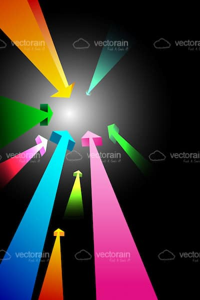 Colourful Arrows with Motion Effect