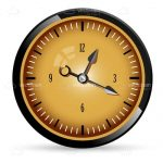 Abstract Analog Clock in Retro Style