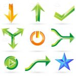 Functional Buttons and Arrows Icon Set