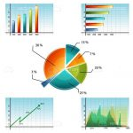 Set of 5 Business Graphs