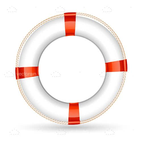 Classic Lifebuoy in White and Red