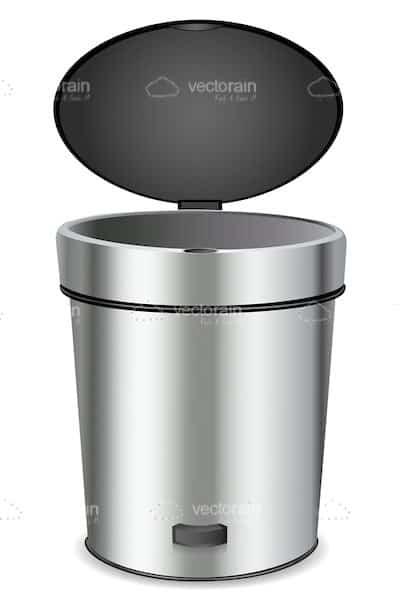Bin with Open Lid