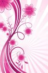 Pink Wavy Floral Background