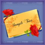 Floral Card with Roses and Sample Text