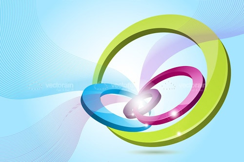 Abstract Background with Colourful Rings Design