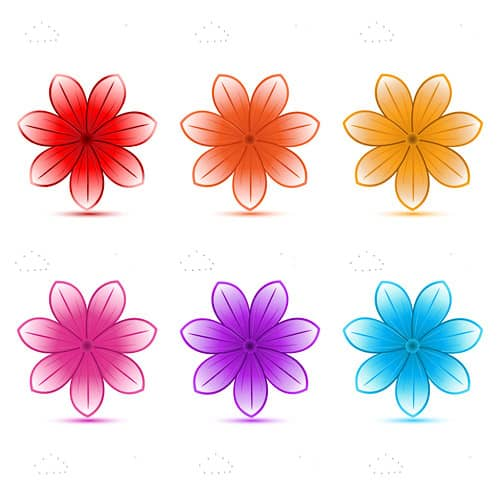 Colourful Flower Vectors
