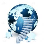 Globe Jigsaw Puzzle with Staircase