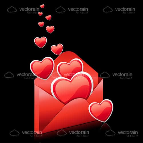 Red Hearts in a Red Envelope