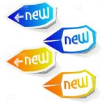 Light and Dark Blue and Light and Dark Yellow 'New' Signs 4 Pack