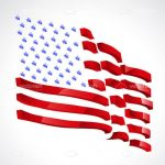 Abstract USA Flag with Motion Effect