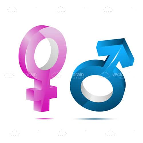 Male And Female Symbols Vectorjunky Free Vectors Icons Logos