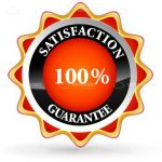 100% Satisfaction Guaranteed Sticker