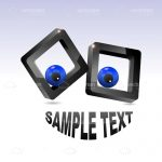 Abstract Crazy Eyes with Sample Text