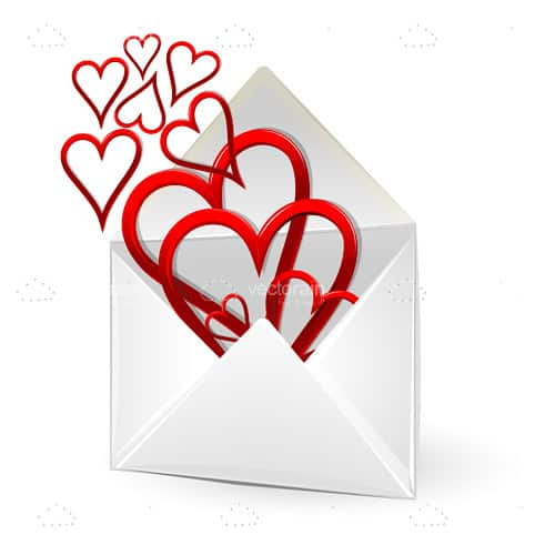 Loving Hearts in an Envelope