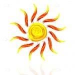 Bright Abstract Sun