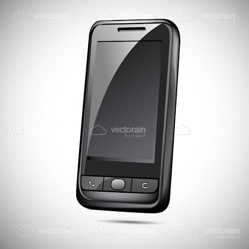 3D Black Mobile Phone Design