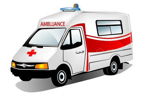 Cartoon Ambulance Vector