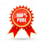 Red 100% PURE Ribbon