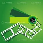 White Film Strip on a Gradient Green Background