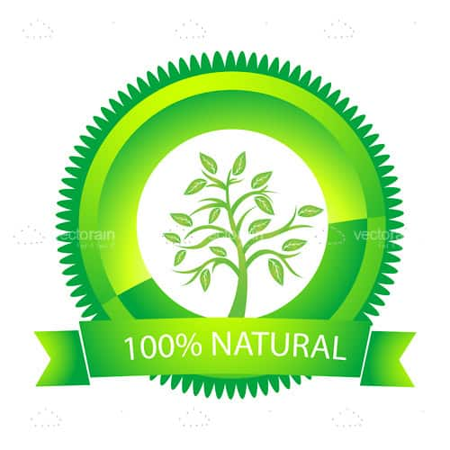 Green 100% Natural Tag