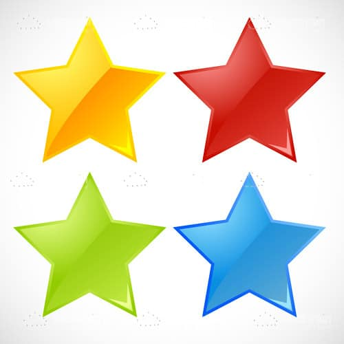 Different Coloured Stars