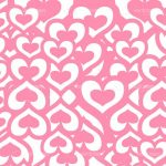 Retro Pink Hearts background