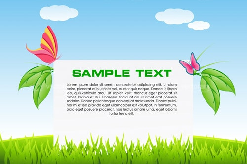 Natural Background Scenery with Sample Text