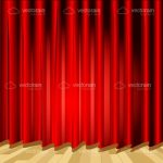 Red Theatre Curtain Backdrop