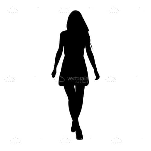Fashionable Woman Silhouette