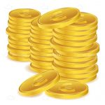 Stack of Golden Euro Coin Coins