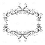 Floral Frame Background in Black and White