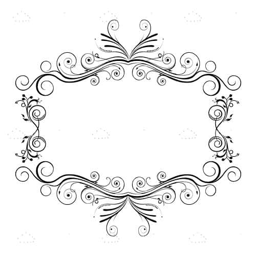 Floral Frame Background in Black and White - Vectorjunky - Free ...