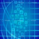 Abstract Blue Squared Background