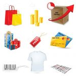 Shopping Themed Icon Set