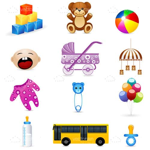 Baby and Kids Icon Set