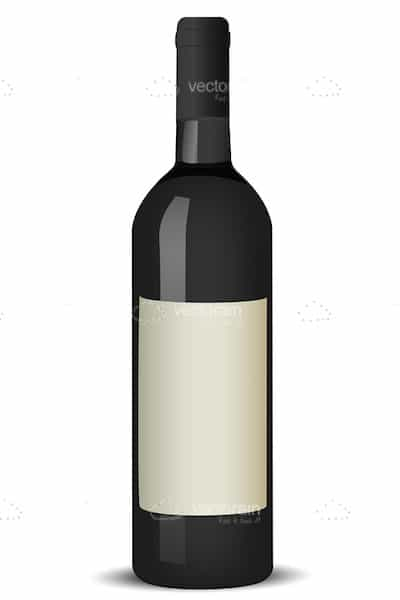 Black Wine Bottle with Blank White Label - Vectorjunky ...